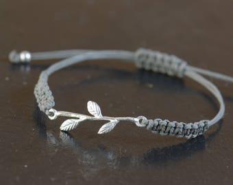SALE-Leaf bracelet-Sterling silver