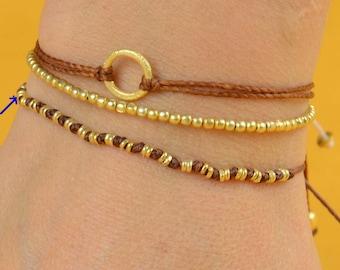 Vermeil  woven bracelet