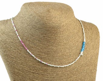 Gemstones and sterling silver beads necklace.Dainty.Ruby,apatite,sterling silver