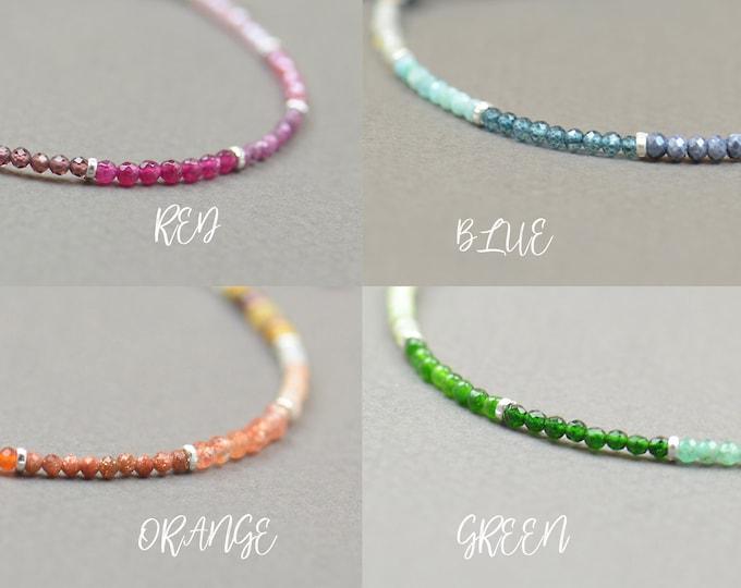 Opal,Jade,Agate,Emerald,Malachite,Spinel,Peridot,larimar,ruby,sapphire,bracelet.Sterling silver bracelet.Green,red,orange,blue gemstones