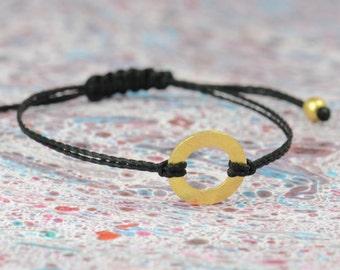 Sterling silver vermeil Karma bracelet