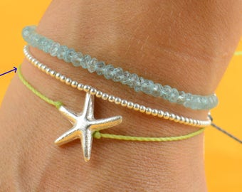 SALE-Star charm bracelet sterling silver