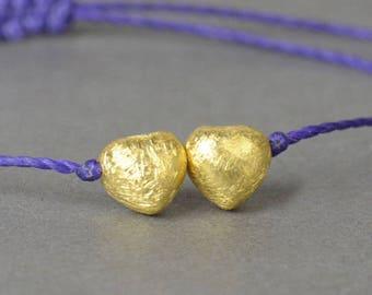 SALE-Gold  hearts Vermeil  bracelet