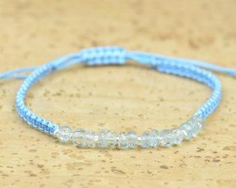 SALE- Aquamarine bracelet.Braided Thread Bracelet, Friendship Bracelet ,Friendship Bracelet,Cord Bracelet,macrame woven bracelet