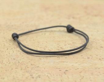 Bracelet Mens, Brown Cord Bracelet, Adjustable String Nylon, Mens Bracelet Simple, Surf Jewelry,red string Kabbalah protection