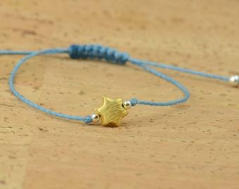 Sterling silver vermeil gold star bracelet
