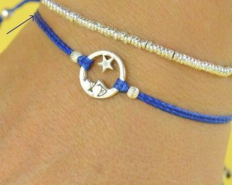 Star and Moon charm bracelet-Sterling silver