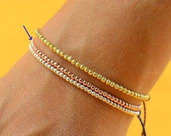 Gold Rose  beads  friendship bracelet