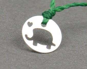 SALE- Sterling silver elephant tiny bracelet