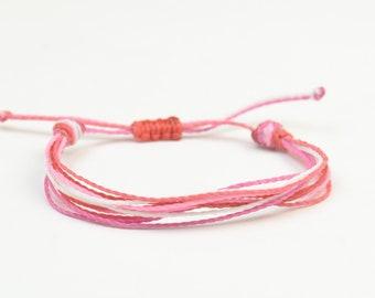 Multiple thread bracelet - cord bracelet - 10 threads personalize bracelet