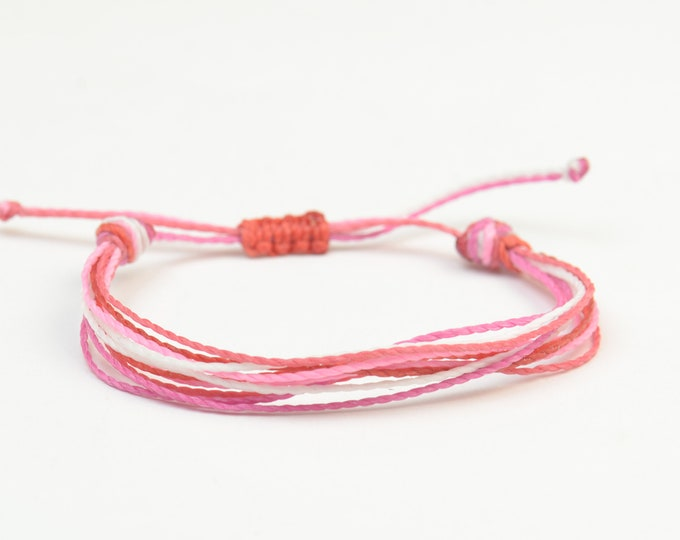 Multiple thread bracelet - cord bracelet - 10 threads personalize bracelet