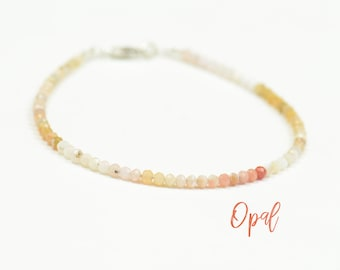 Opal and  Sterling silver clasp bracelet