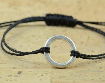 1,5 cm karma bracelet  - sterling silver- eternity circle