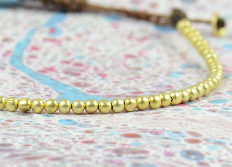 Gold beaded bracelet image 0