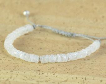 Moonstone bracelet.Thread Bracelet, Friendship Bracelet ,Friendship Bracelet,Cord Bracelet