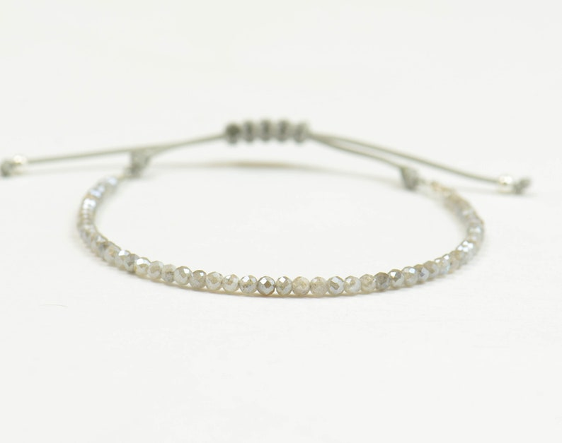 Labradorite bracelet.Gemstone adjustable knot image 0