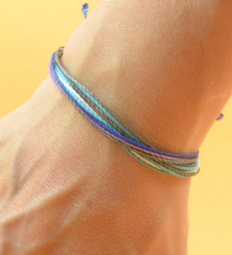 Multiple thread mens bracelet   Mens cord bracelet  10 image 0