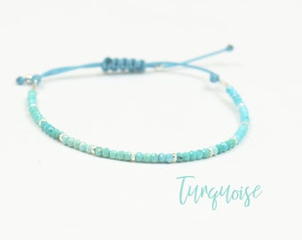 Sterling silver and Real Genuine turquoise beads bracelet