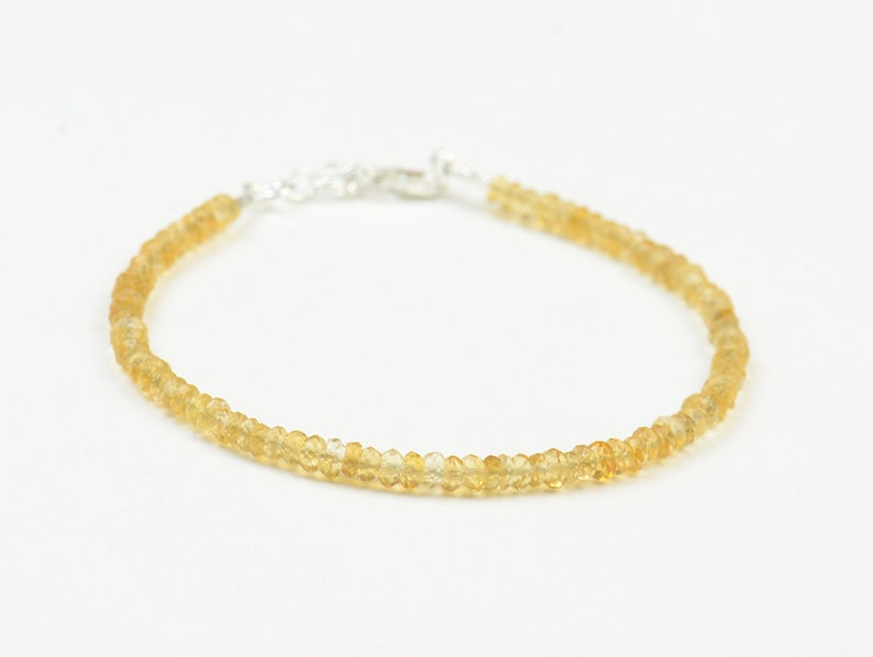 Tiny Citrine faceted beads  bracelet image 0