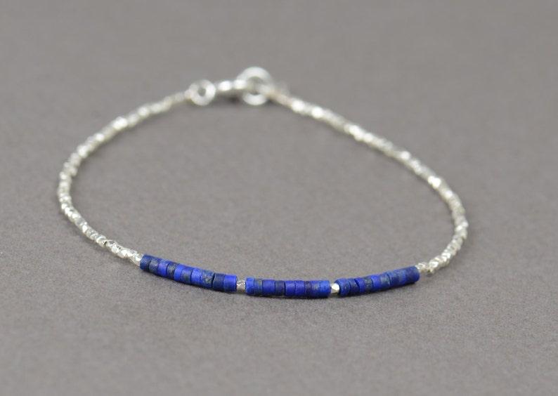 Sterling silver  and Lapis lazuli bracelet image 0