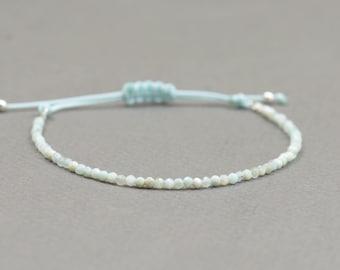 Tiny blue opal bracelet