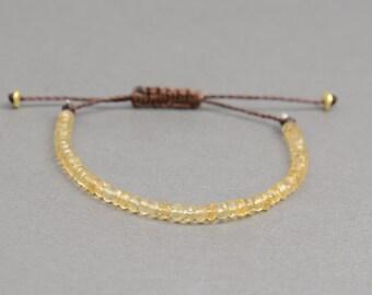 Citrine bracelet