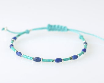Sterling silver turquoise and Lapis lazuli bracelet