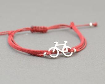 Sterling Silver Bicycle charm bracelet. Mens bracelet