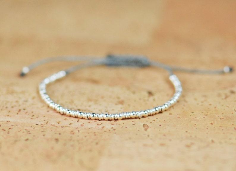 Sterling silver beaded bracelet image 0