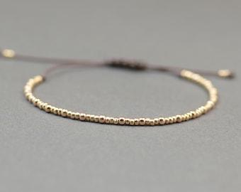 Rose gold silver adjustable bracelet.Silver Rose Thread Bracelet, Friendship Bracelet ,Sterling Silver Rose Friendship Bracelet