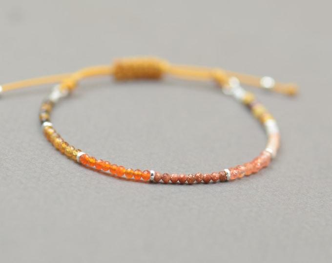 Mookaite,Citrine,Carnelian,Sunstone,opal,tiger eye bracelet.Sterling silver bracelet.Orange Yellow gemstones