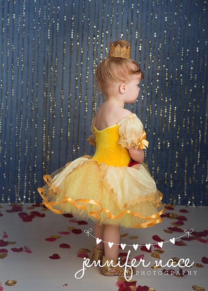 Belle inspired tutu dress 2t