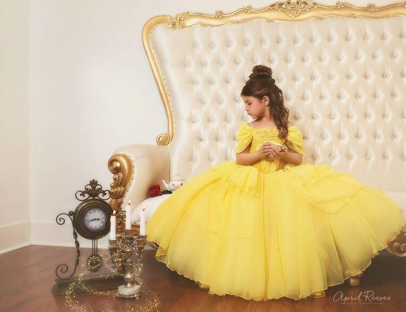 e38f7252723 New Belle inspired 2017 dress ballgown tutu size 7