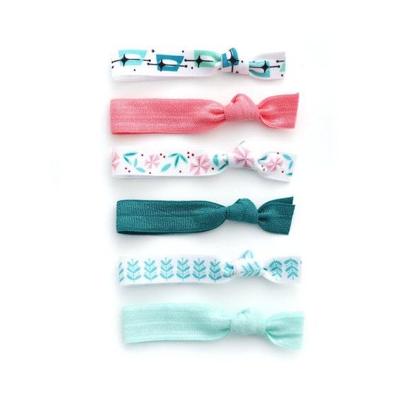Femmes feuille cheveux cravate bande bandeau élastique porte-queue de cheval~PL