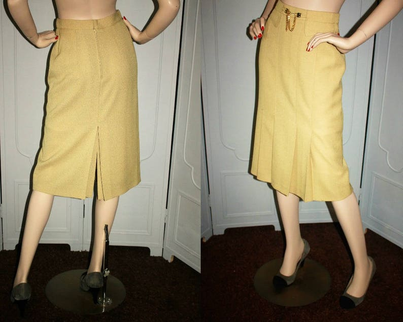 Vintage 80's High Fashion Skirt with Exquisite Pleating image 0