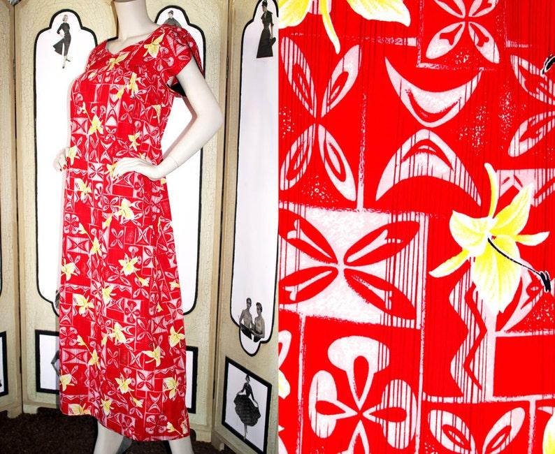 Vintage Hawaiian Mu'u Mu'u Dress by HoAloha. Gorgeous image 0