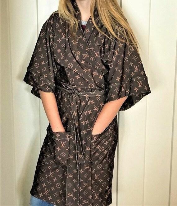 Hospital Nursing Robe in LV Designer Inspired Fabric | Etsy