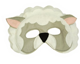 Children's SHEEP Farm Animal Felt Mask