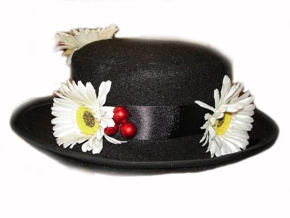 migliore migliore scarpe da skate Custom Boutique MARY POPPINS Inspired Nanny's Black Hat | Etsy