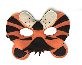 Children's TIGER Felt Safari Jungle Animal Mask