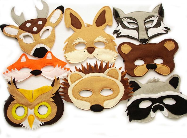 Children's Woodland Animals Felt Mask Super Combo of 8 image 0