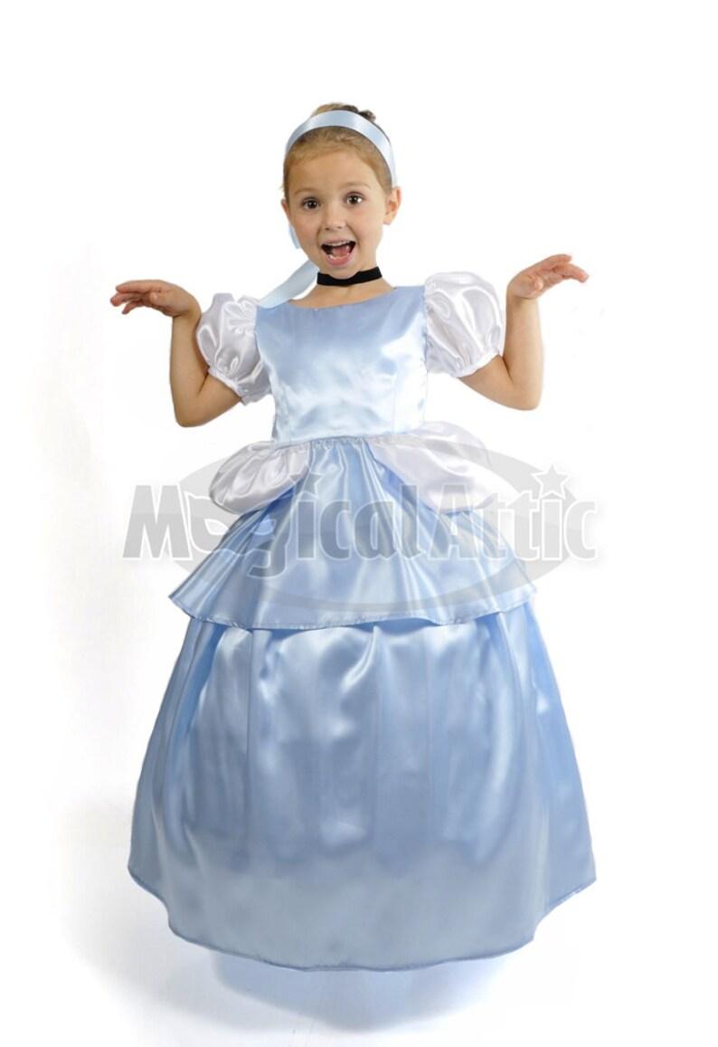 20113a9e3a3 Custom Boutique Princess CINDERELLA Ball Gown Girls Size Costume Dress Set