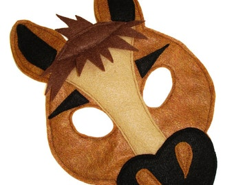 Children's HORSE Farm Animal Felt Mask
