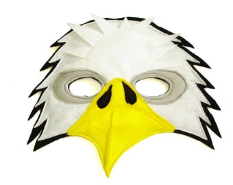 Children's Woodland Animal BALD EAGLE Felt Mask