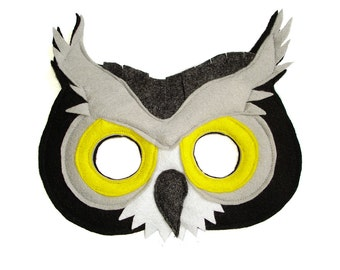 Children's Woodland Animal GREAT GREY OWL Felt Mask