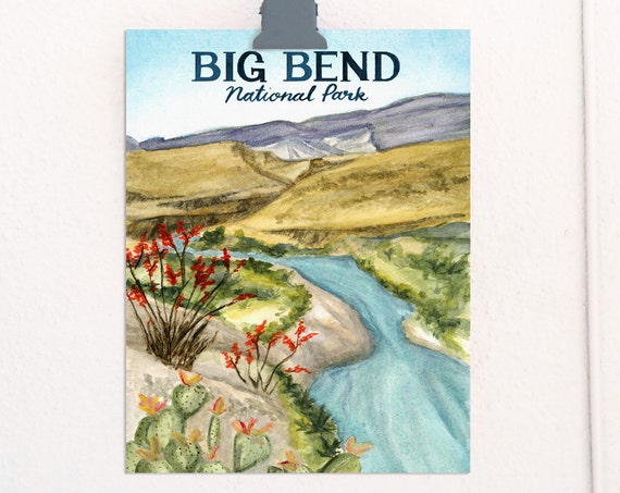Big Bend, Texas National Parks Travel Poster *OLD*