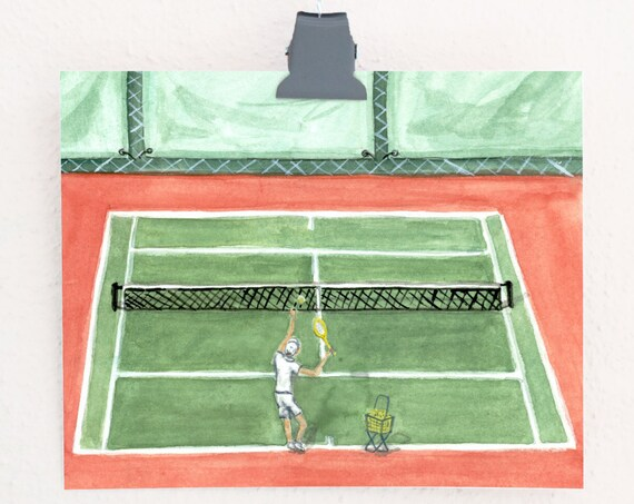 Ace! Tennis Art Print