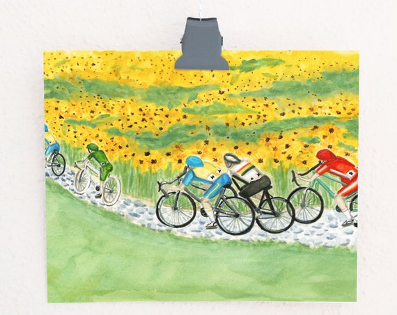 The Peloton Cycling Art Print