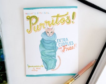 Purritos Cat Greeting Card