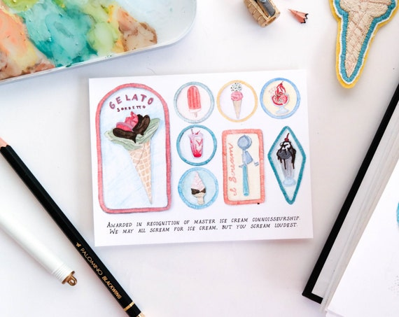 Ice Cream Connoisseur Merit Badge Card